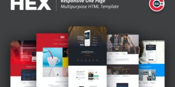 HEX - One Page Multipurpose HTML Template