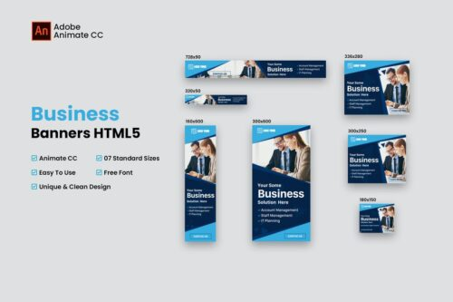 HTML5 Business Banners - Animate CC