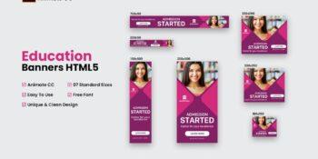 HTML5 Educational Banners - Animate CC