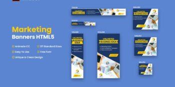 HTML5 Marketing Banner Ad - Animate CC