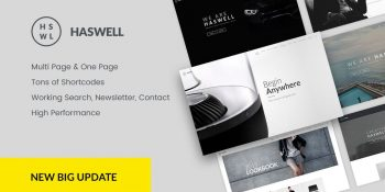 Haswell - Multifunction Single and Multi Page Template