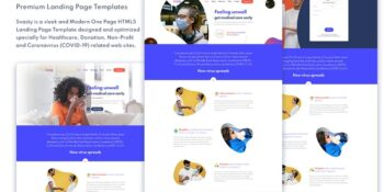 Healthcare service landing page template
