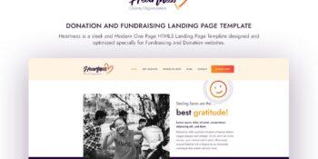 Heartness - Fundraising Donation Landing Page