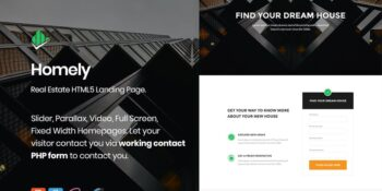 Homely - Real Estate Landing Page