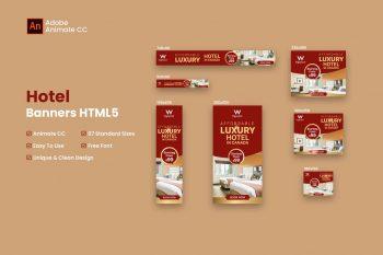 Hotel Web Banners Ad HTML5 - Animate CC