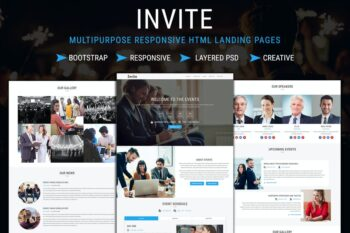 INVITE - Responsive HTML Landing Pages