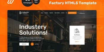 Industic Factory and Manufacturing HTML5 Template