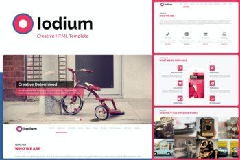 Iodium- Onepage PersonalPortofolio HTML Template