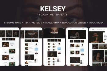 Kelsey - Creative Personal Blog HTML Template