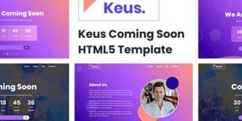 Keus - Creative Coming Soon HTML5 Template