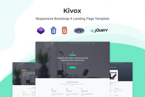 Kivox - Responsive Landing Page Template