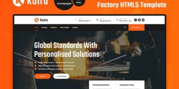 Koira - Industry and Manufacturing HTML5 Template