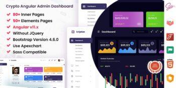Kripton - Crypto Admin Angular Dashboard Template