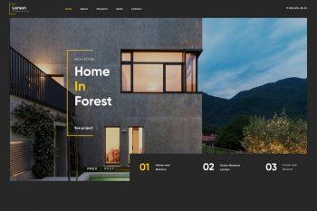 Larson HTML Architecture and Interior Template
