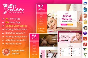 Lavi Beauty Salon Spa Maquillour Bootstrap 4
