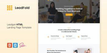 LeadFold - Lead Generation HTML Landing Page Templ