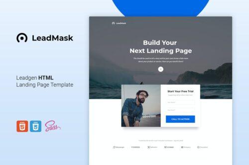 LeadMask - Leadgen HTML Landing Page Template