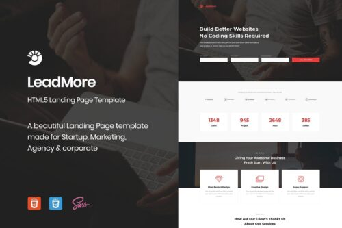 LeadMore - HTML5 Landing Page