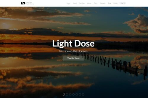 LightDose - Flat and Minimal Responsive HTML Template