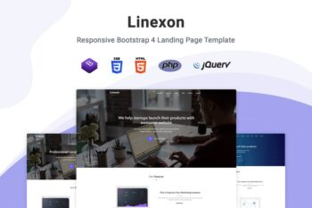 Linexon - Bootstrap 4 Landing Page Template