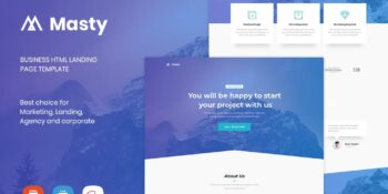 Masty - Business HTML Landing Page Template