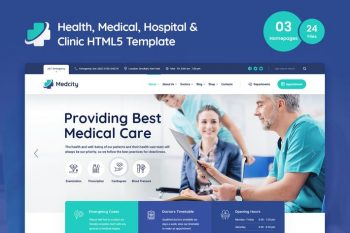 Medcity - Health and Medicine HTML5 Template