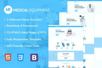 Medical Equipment - PPE Kit HTML Template