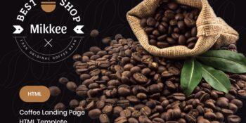 Mikkee - Coffee Landing Page HTML Template
