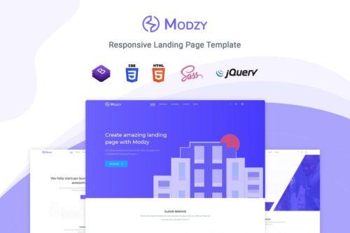 Modzy - Landing Page Template
