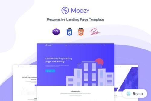Modzy - React Landing Page Template