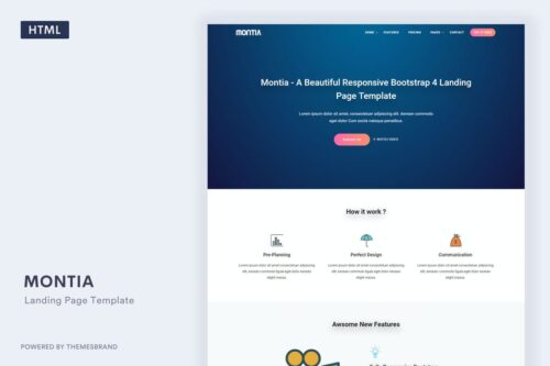Montia - Landing Page Template