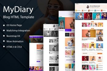 MyDiary - Newspaper Magazine and Personal HTML Blog