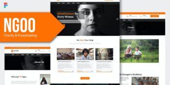 NGOO - Charity, Non-Profit Figma RS Template