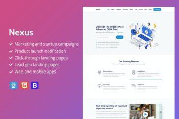 Nexus - Premium SaaS Landing Page Template
