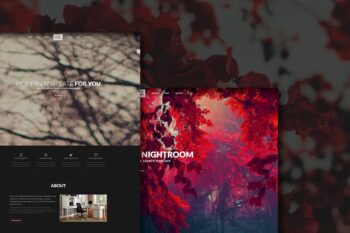 Night Room Creative Dark Template