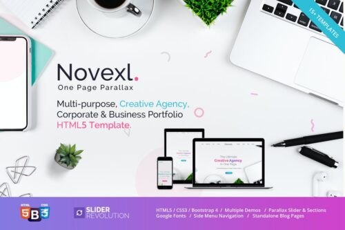 Novexl - Creative One Page HTML