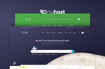 Nuhost - Multipurpose HTML and WHMCS Templat Hosting