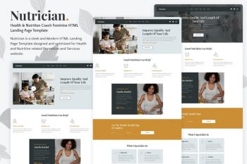 Nutrician - Health & Nutrition Coach Landing Page