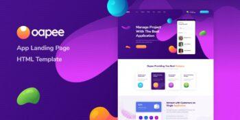 Oapee - App Landing Page HTML Template