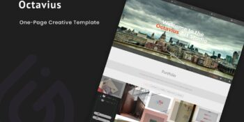 Octavius - Responsive One Page Template