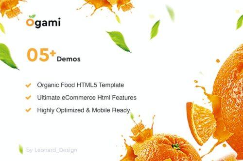 Ogami - Multifunction Organic Store & Bakery HTML