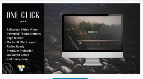 One Click – Parallax One Page Wordpress Theme