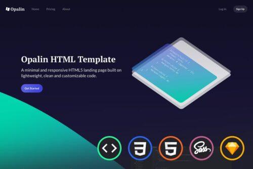 Opalin - Starter HTML Template