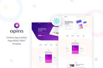 Opins - React Next App Landing Page Template