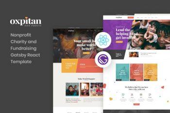Oxpitan - Gatsby React - Non-Profit Charity Template