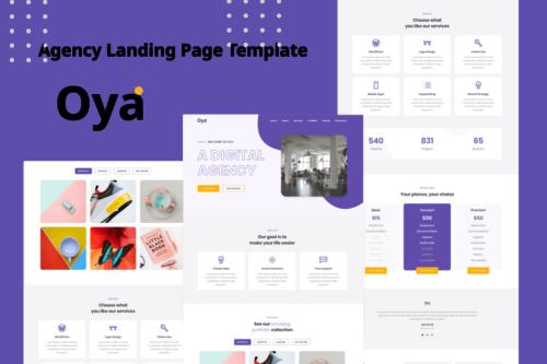 Oya - Agency Landing Page Template