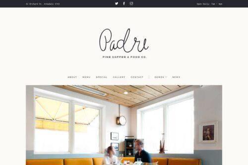 Padre Cafe & Restaurant HTML Template