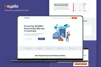 Paysilo - Responsive Landing Page Template