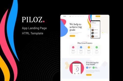 Piloz - App Landing Page HTML Template