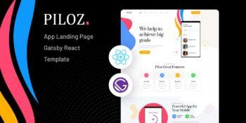 Piloz - Gatsby React App Landing Page Template